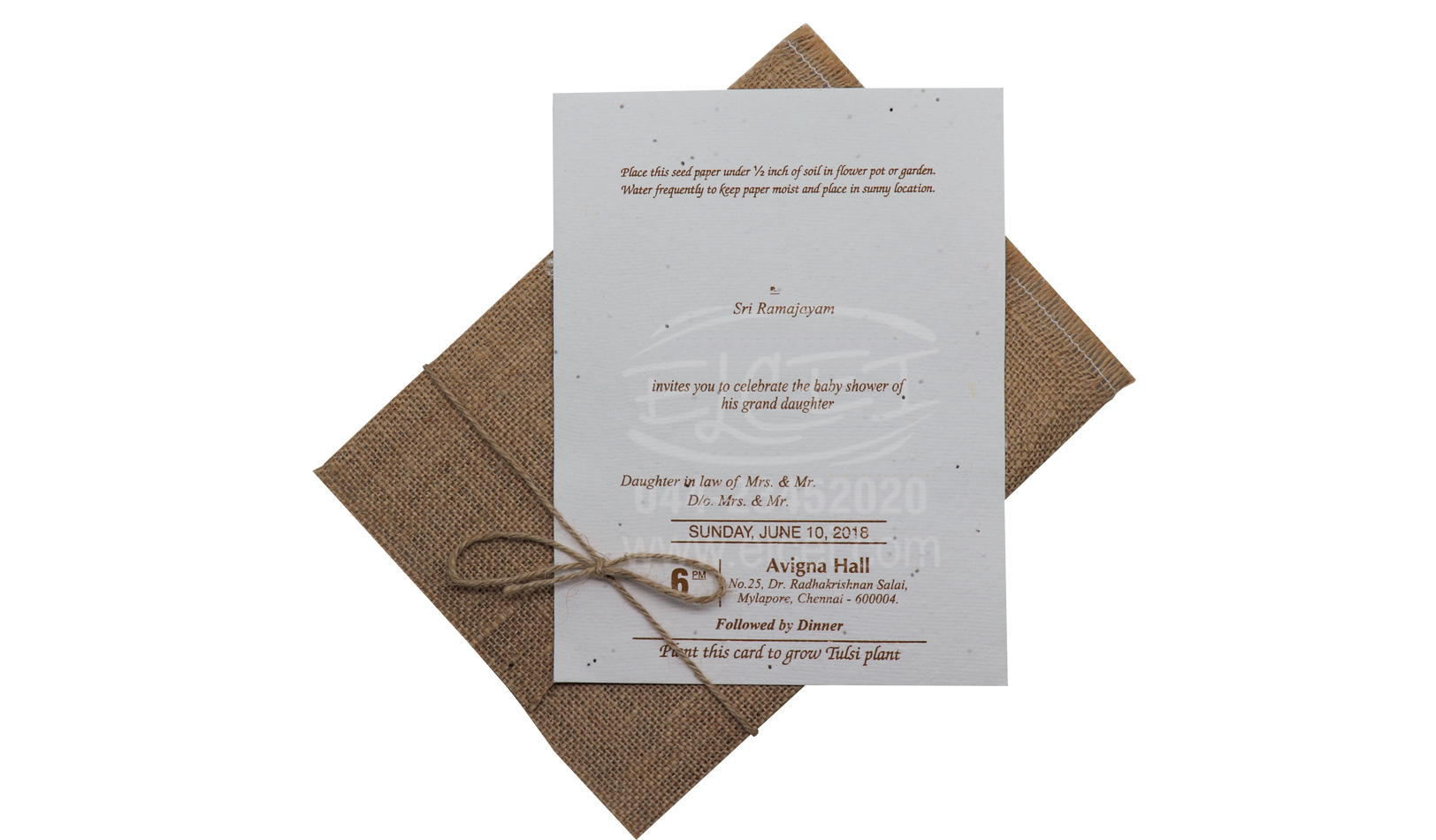 Plantable Seed Paper Invitation