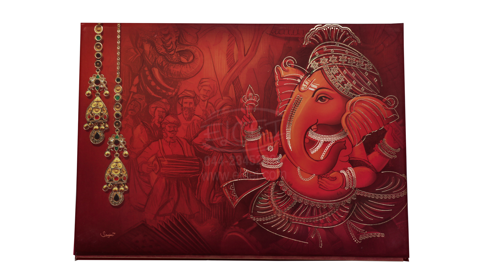 Padding Card With Elaborate Background Design